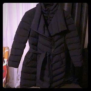 Mackage Ilena leather trim down coat